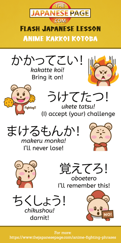 Anime fighting phrases