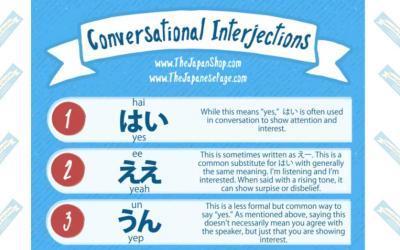 Japanese Conversational Interjections 相槌 aizuchi