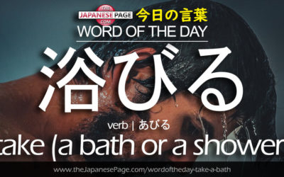 Beginner Word of the Day – 浴びる [take (a bath or a shower); pour ~ over oneself;be exposed to~; douse oneself with ~]